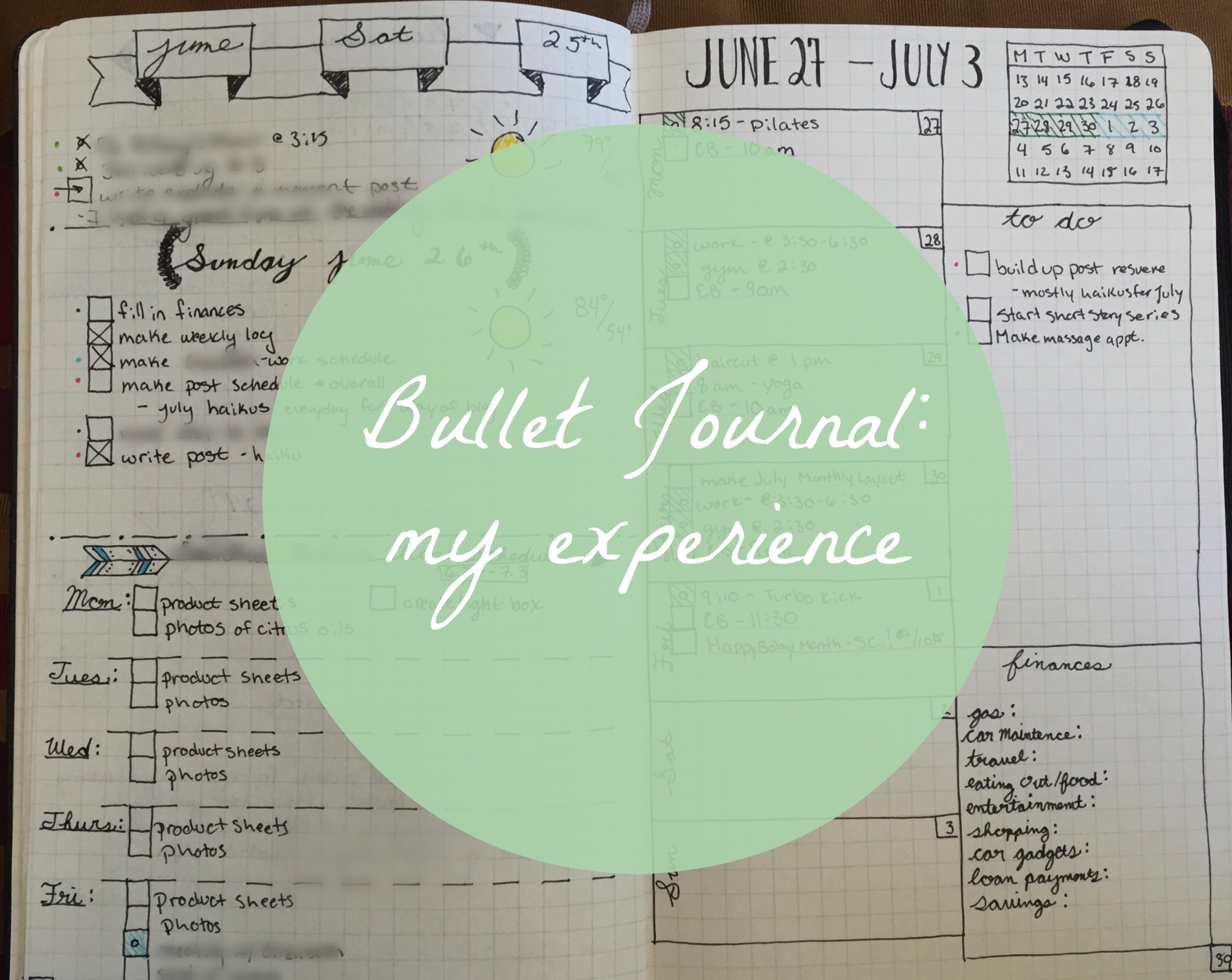 My Experience with the Bullet Journal